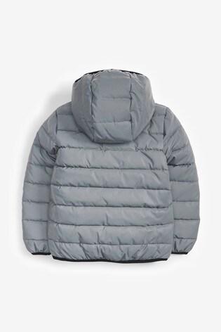Silver Reflective Puffer Jacket (3-16yrs)