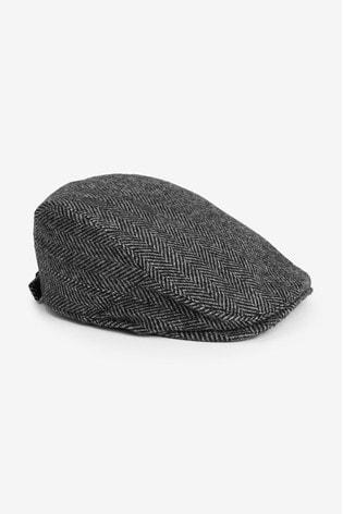 Charcoal Flat Cap