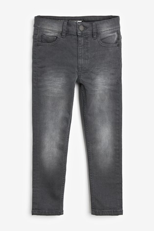 Charcoal Skinny Fit Five Pocket Jeans (3-16yrs)