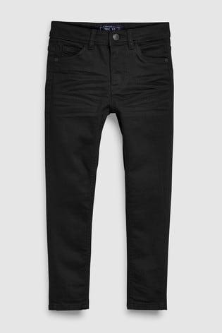 Black Skinny Fit Five Pocket Jeans (3-16yrs)