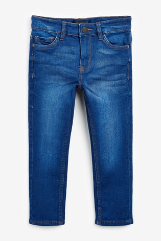 Bright Blue Skinny Fit Five Pocket Jeans (3-16yrs)
