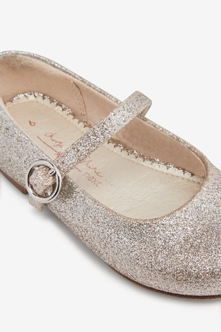 Silver/Gold Glitter Mary Jane Occasion Shoes (Younger)