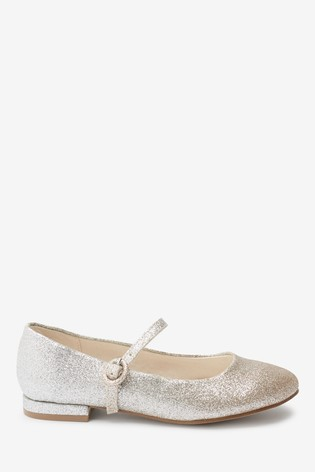 Silver/Gold Glitter Heeled Mary Jane Shoes (Older)