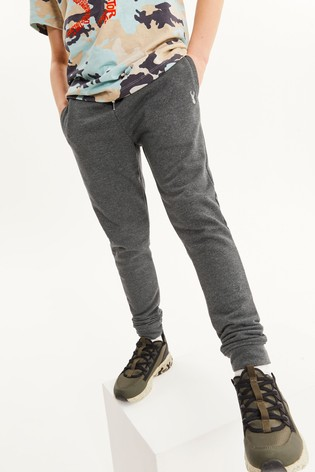 Dark Charcoal Skinny Fit Cuffed Joggers (3-17yrs)