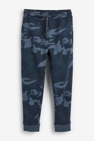 Blue Camo Slim Fit Cuffed Joggers (3-17yrs)