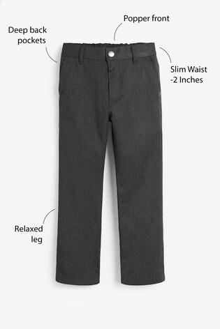 Grey Slim Waist Jean Trousers (3-16yrs)