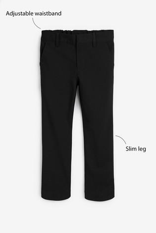 Black Slim Waist Formal Stretch Skinny Trousers (3-17yrs)