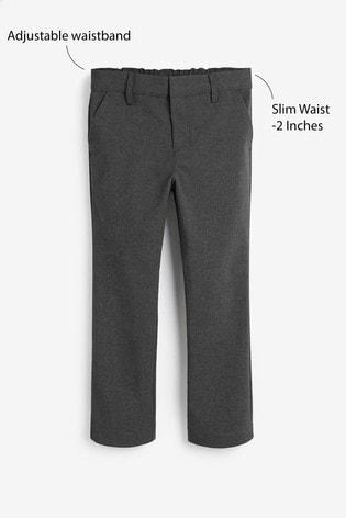 Grey Slim Waist Formal Stretch Skinny Trousers (3-17yrs)