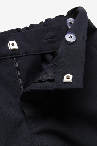 Navy Slim Waist Formal Stretch Skinny Trousers (3-17yrs)