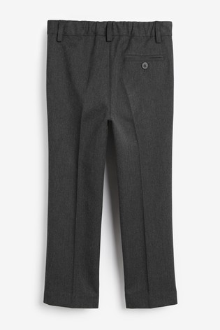 Grey Slim Waist Pleat Front Trousers (3-16yrs)