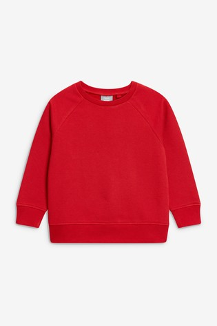 Red Crew Neck Sweater (3-17yrs)