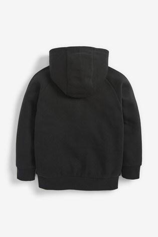 Black Zip Through Hoody (3-16yrs)
