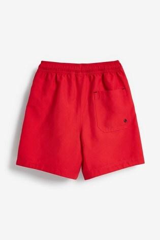 Red Regular Length Swim Shorts (1.5-16yrs)
