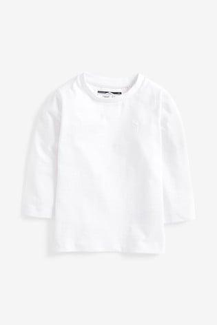 White Long Sleeve Plain T-Shirt (3mths-7yrs)