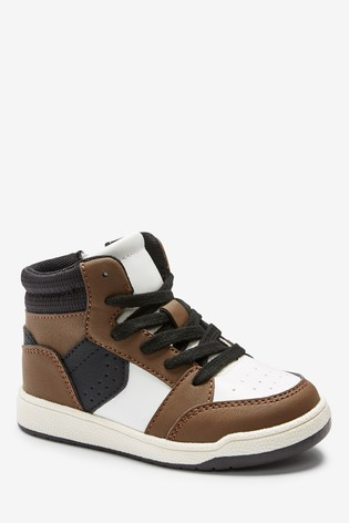 Black/Brown High Top Trainers (Younger)
