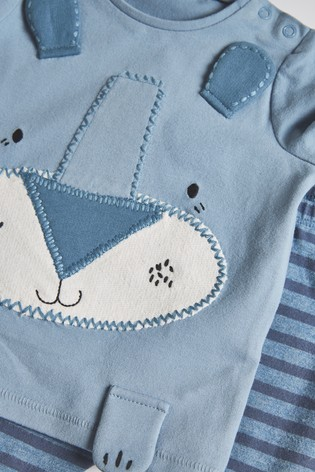 Blue T-Shirt And Leggings Slogan Set (0mths-3yrs)