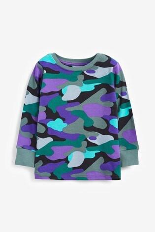 Multi Bright Camo 3 Pack Snuggle Pyjamas (9mths-12yrs)