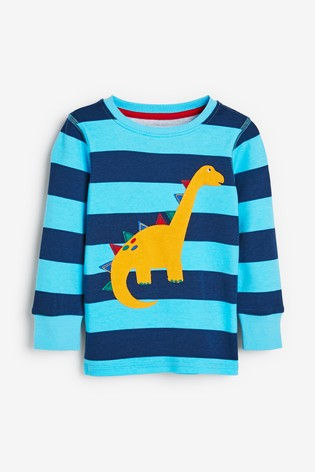Bright Stripe Dino 3 Pack Snuggle Pyjamas (9mths-9yrs)
