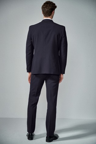 Navy Regular Fit Two Button Suit: Jacket