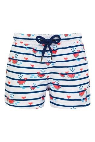 Sunuva Navy Watermelon Whale Swim Shorts