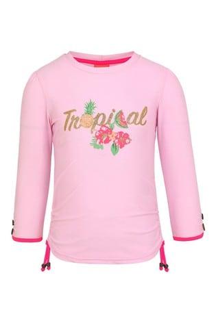 Sunuva Pink Tropical Long Sleeve Rash Vest