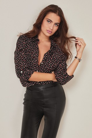 Black Heart Print Shirt