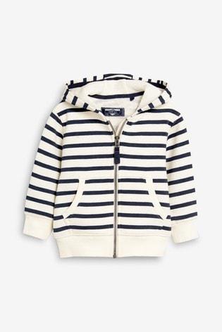 Stripe Essential Zip Through Hoodie (3mths-7yrs)