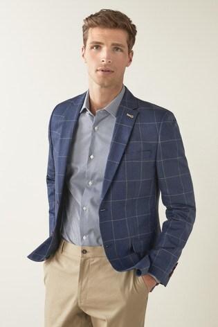 Joules Slim Fit Wool/Linen Blazer
