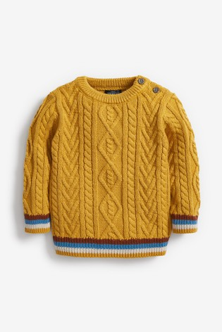 Ochre Cable Knit Crew Jumper (3mths-7yrs)