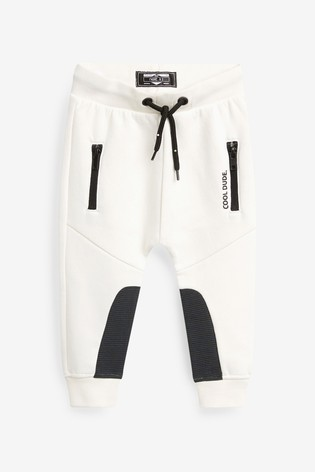 White Joggers Sporty (3mths-7yrs)