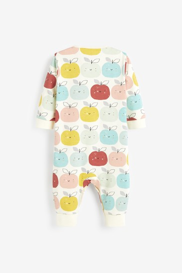 Multi 3 Pack Rainbow Apple Footless Sleepsuits (0mths-3yrs)