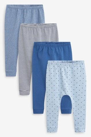 Blue 4 Pack Star Stretch Leggings (0mths-3yrs)