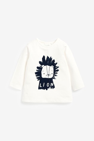 Blue/White GOTS Organic Lion T-Shirt And Leggings Set (0mths-3yrs)