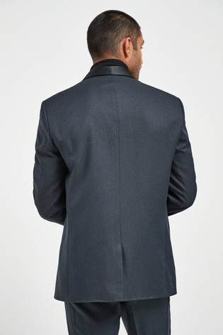 Navy Puppytooth Tailored Fit Check Suit: Jacket