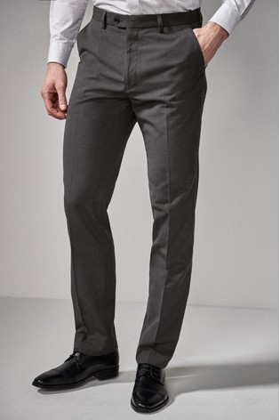 Charcoal Regular Fit Suit: Trousers