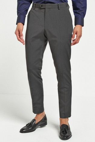 Charcoal Slim Tapered Suit: Trousers