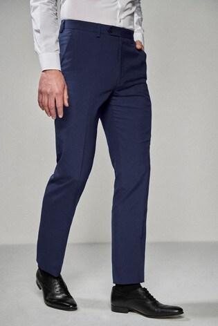 Bright Blue Regular Fit Suit: Trousers