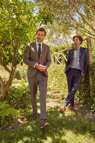 Slim Fit Joules Wool/Linen Suit: Jacket