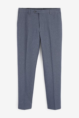 Light Blue Slim Fit Puppytooth Suit: Trousers