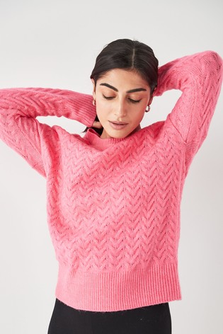Peach Knitted Lounge Jumper