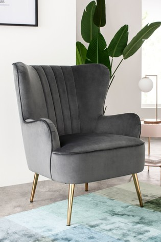 Blake Armchair With Gold Finish Legs
