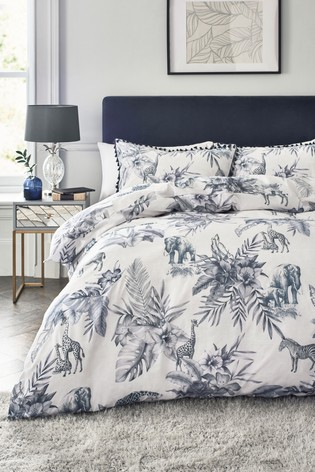 Floral Safari Duvet Cover and Pillowcase Set