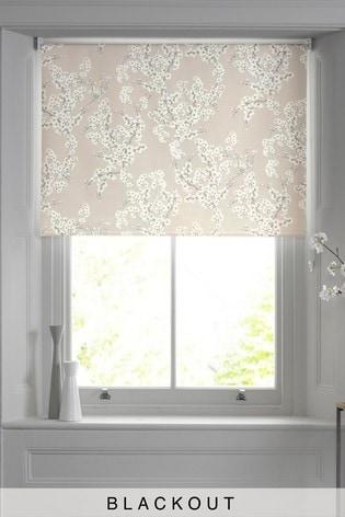 Blossom Natural Print Blackout Roller Blind