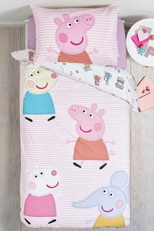 Peppa Pig™ & Friends Reversible Duvet Cover and Pillowcase Set