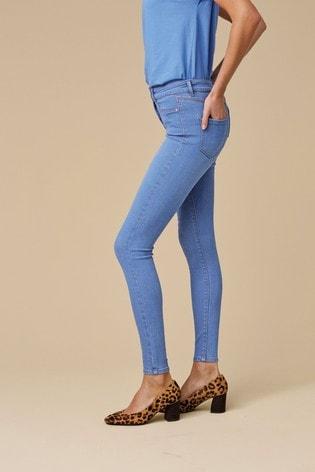 Bright Blue Power Stretch Denim Leggings