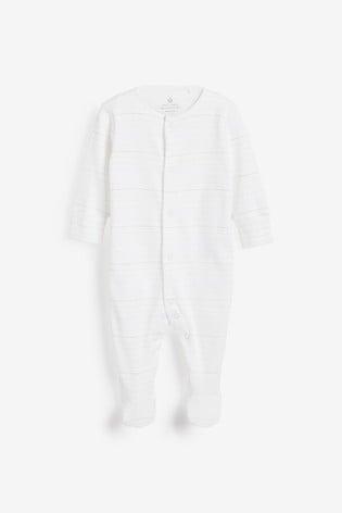 White 4 Pack Bright Elephant Sleepsuits (0-2yrs)