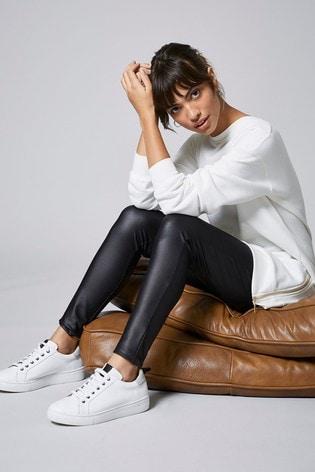 Mint Velvet Black Leather Look Leggings