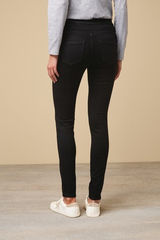 Black Super Stretch Soft Sculpt Pull-On Denim Leggings
