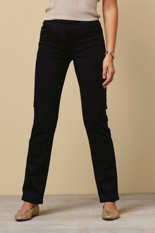 Black Super Stretch Soft Sculpt Pull-On Slim Leggings