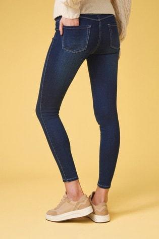 Dark Blue Super Stretch Soft Sculpt Pull-On Denim Leggings